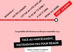 « Stop, ça suffit ! » – La campagne contre le harcèlement et les violences sexuelles dans les transports