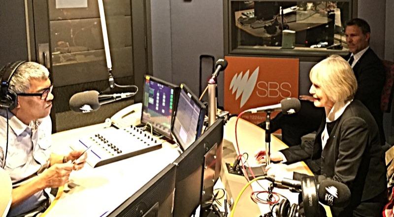 Dans les studios de SBS
