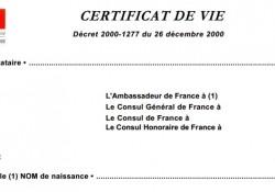 Question écrite sur la possibilité d'uniformiser les certificats d'existence